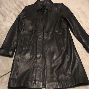 BNWOT Anne Klein Leather Button Down Jacket